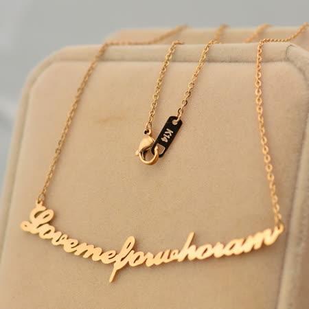 【米蘭精品】玫瑰金純銀項鍊吊墜-英文字母情人節禮物時尚飾品71x80