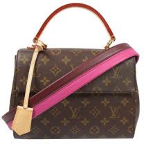 Louis Vuitton LV M42738 Cluny BB 經典花紋兩用仕女包_預購