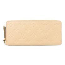 Louis Vuitton LV M60173 Clemence 經典花紋全皮革壓紋拉鍊長夾_預購