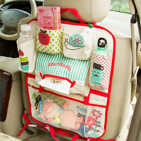 威力鯨車神 日本熱銷高質感汽車椅背置物袋 汽車收納袋 椅背掛袋 手提袋 升級版