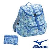 Mizuno 美津濃 輕量可收納防潑水後背包 (水藍) D3TD680021