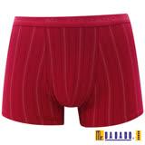 【DADADO】休閒 M-3L 四角褲(條紋紅)