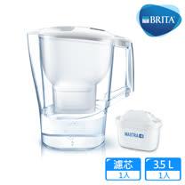 【德國BRITA】3.5公升Aluna愛奴娜濾水壺(內含新升級MAXTRA+全效濾芯1入)