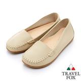 Travel Fox 都會風旅輕量休閒莫卡辛鞋-917311-(米-182)(女)