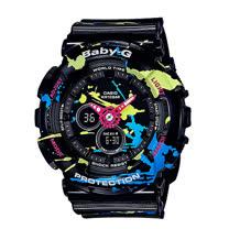 CASIO 卡西歐 BABY-G 街頭藝術塗鴉風格女錶 (BA-120SPL)