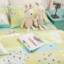 OLIVIA 《 綠光森林 》 雙人床包被套四件組 嚴選印花系列