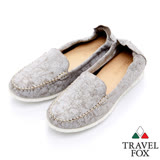 Travel Fox 舒適布料輕巧懶人鞋-917313-(灰-013)(女)