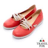 Travel Fox 城市女孩休閒娃娃鞋-917315-(紅-104)(女)