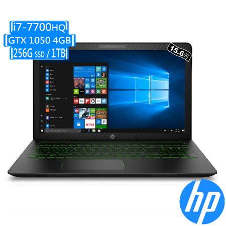 HP Pavilion Gaming 15-cb011TX 15吋UHD/i7-7700HQ/GTX1050-4G/8G/256GB SSD+1TB/W10 筆電