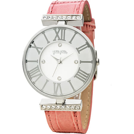 Folli Follie DYNASTY 時尚教主羅馬女錶-銀x粉紅/36mm WF1A029SSS-PI