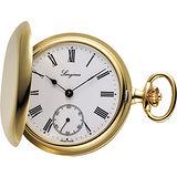 LONGINES 經典復古羅馬手動上鍊懷錶-白x金/48mm L70122211