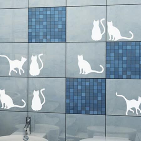 香草花園 貓咪組合家居壁貼