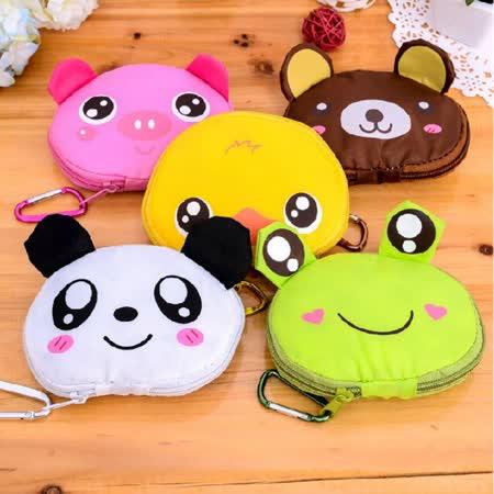 香草花園 韓版可愛動物造型零錢袋 購物袋