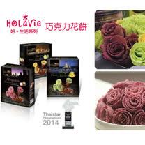 泰國Kullanard巧克力玫瑰花造型餅乾三入組贈一盒