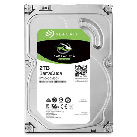 Seagate新梭魚BarraCuda 2TB 3.5吋 桌上型硬碟 (ST2000DM006)