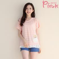 Pink* 兩件式小雞米米上衣 F4302AT