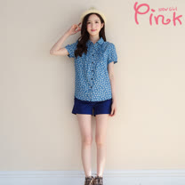 Pink*  棉質舒適休閒短褲 F4501AT