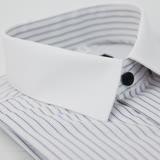 【金安德森】白領藍條紋窄版短袖襯衫