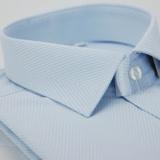 【金安德森】藍色對稱紋窄版長袖襯衫