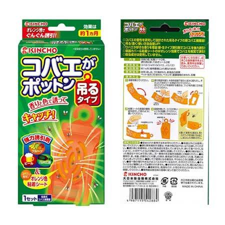 日本金鳥  防果蠅吊片(1入)3盒