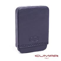 CUMAR-義大利原裝進口-真皮上下蓋名片盒