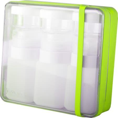 【義大利 BANALE】旅用軟質盥洗罐組(草綠+白瓶) BANALE TRAVEL KIT-LIME