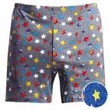 【DADADO】星星 M-3L 印花平口褲( 藍)