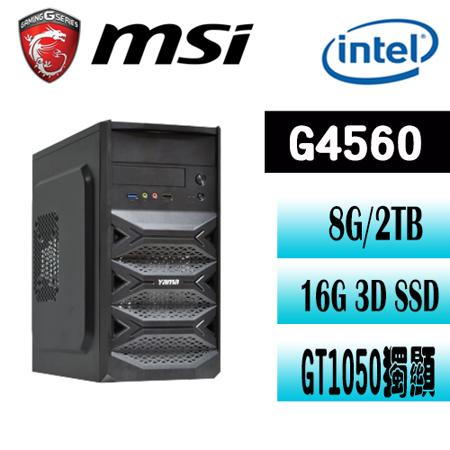 微星B250平台【機密對決】Intel G4560雙核 GT1050 獨顯電玩機
