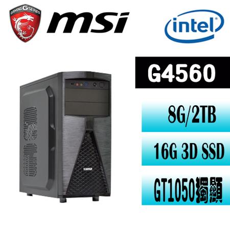 微星B250平台【鋼鐵英雄】Intel G4560雙核 GT1050 獨顯電玩機