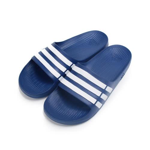 (男) ADIDAS Duramo M 套式拖鞋 藍白 G14309 男鞋 鞋全家福