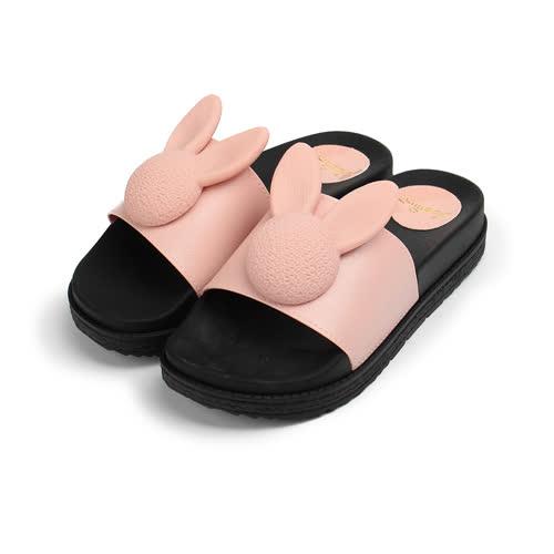 (女) RED ANT 可愛小兔防水拖鞋 粉 女鞋 鞋全家福