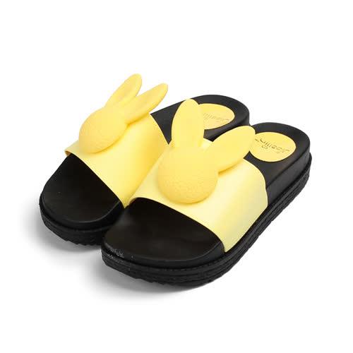 (女) RED ANT 可愛小兔防水拖鞋 黃 女鞋 鞋全家福