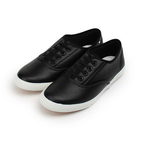 (女) GIOVANNI VALENTINO 縫線飾帶套式休閒鞋 黑 女鞋 鞋全家福