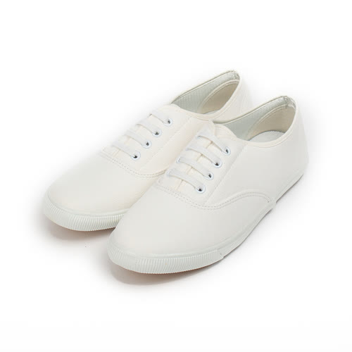 (女) GIOVANNI VALENTINO 縫線飾帶套式休閒鞋 白 女鞋 鞋全家福