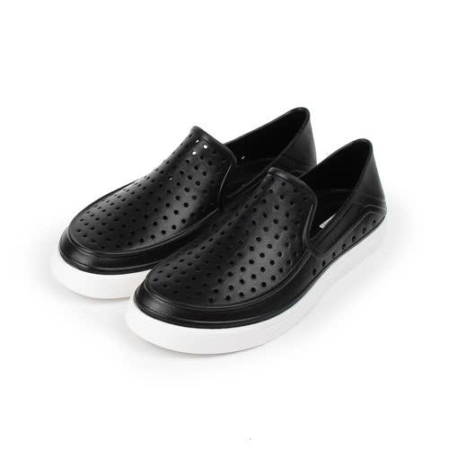 (男) RED ANT 洞洞晴雨萊特鞋 黑 男鞋 鞋全家福