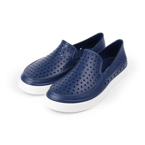 (男) RED ANT 洞洞晴雨萊特鞋 藍 男鞋 鞋全家福