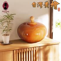 台灣黃檜木聚寶盆(中)