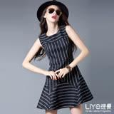 LIYO理優歐風條紋無袖洋裝626043