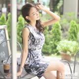 LIYO理優印花修身無袖洋裝626016