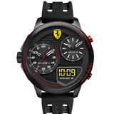 Scuderia Ferrari 法拉利 F1賽車三地時區腕錶-黑 0830318