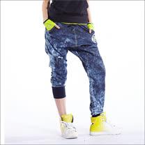 TOUCH AERO 牛仔雪花長嘻哈褲 TA582(商品圖不含配件/男女皆可穿)