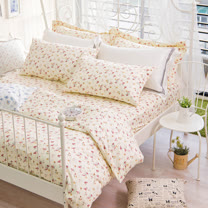 OLIVIA 《 玫瑰田園 》 雙人兩用被套床包四件組 嚴選印花系列