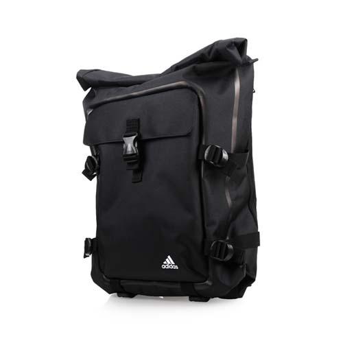 ADIDAS 運動後背包-雙肩包 15吋筆電 愛迪達 黑白 F
