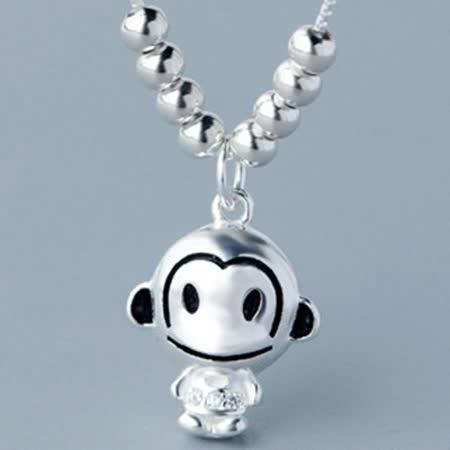 925純銀項鍊吊墜流行飾品-小猴子造型時尚可愛百搭母親節生日情人節禮物女配件73y76【米蘭精品】
