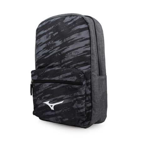 MIZUNO 運動後背包-雙肩包 旅行包 電腦包 15吋筆電 美津濃 灰黑白 F