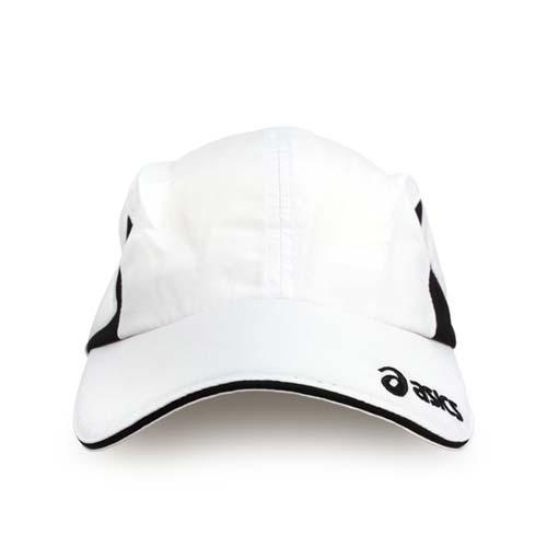 ASICS 運動帽-慢跑 路跑 帽子 鴨舌帽 防曬 亞瑟士 白黑 F