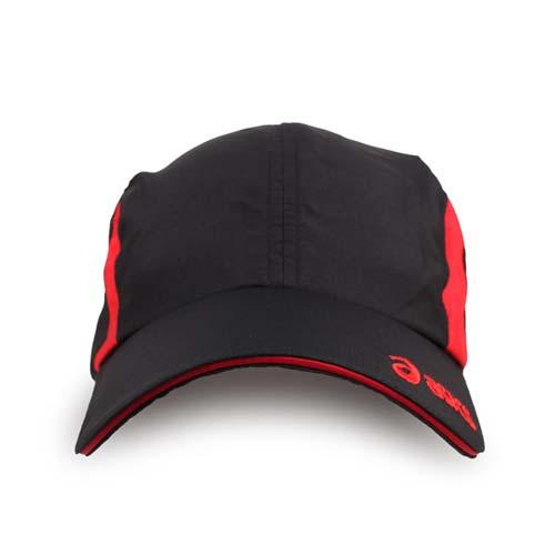 ASICS 運動帽-慢跑 路跑 帽子 鴨舌帽 防曬 亞瑟士 黑紅 F