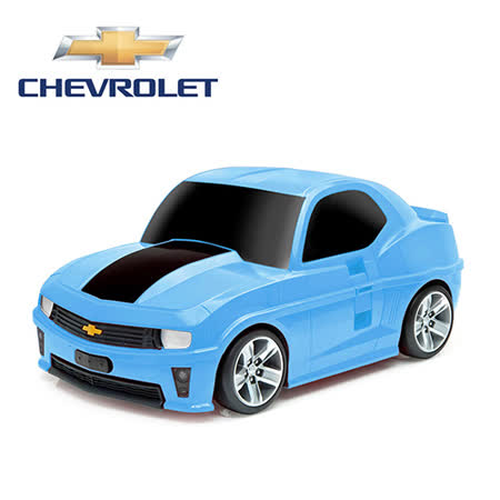【nicegoods 好東西】RIDAZ原廠跑車兒童行李箱-藍色雪佛蘭