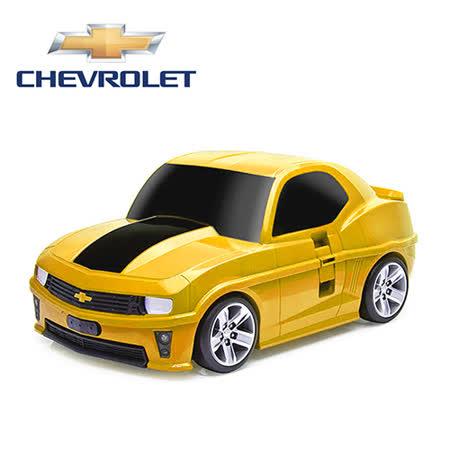 【nicegoods 好東西】RIDAZ原廠跑車兒童行李箱-黃色雪佛蘭