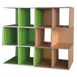 創意6格收納櫃-白楓木